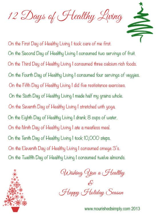 12 Days of Healthy Living