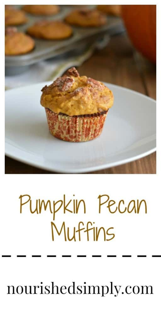 It's pumpkin season! This muffin is lower in calories and better for you than store bought muffins.