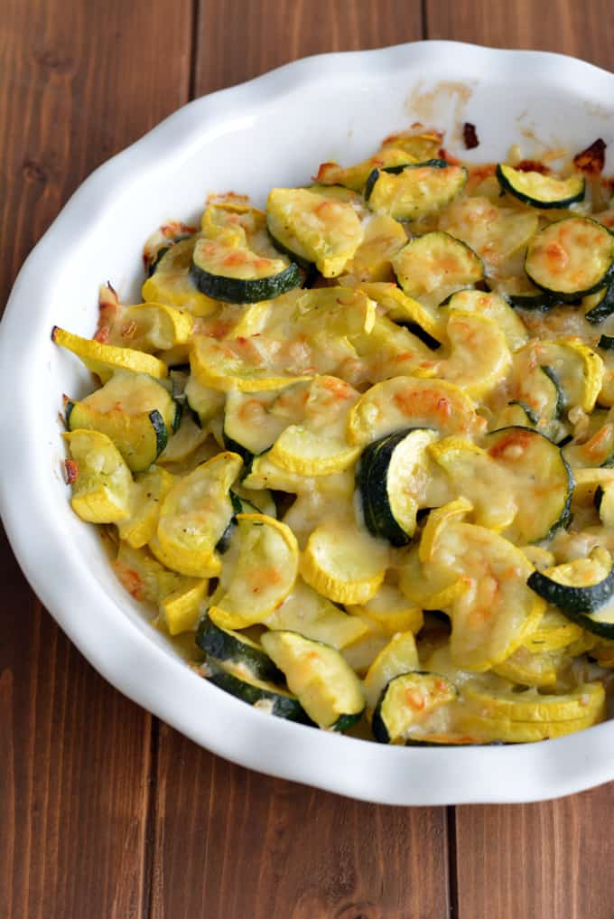 Baked Summer Squash with Gruyere