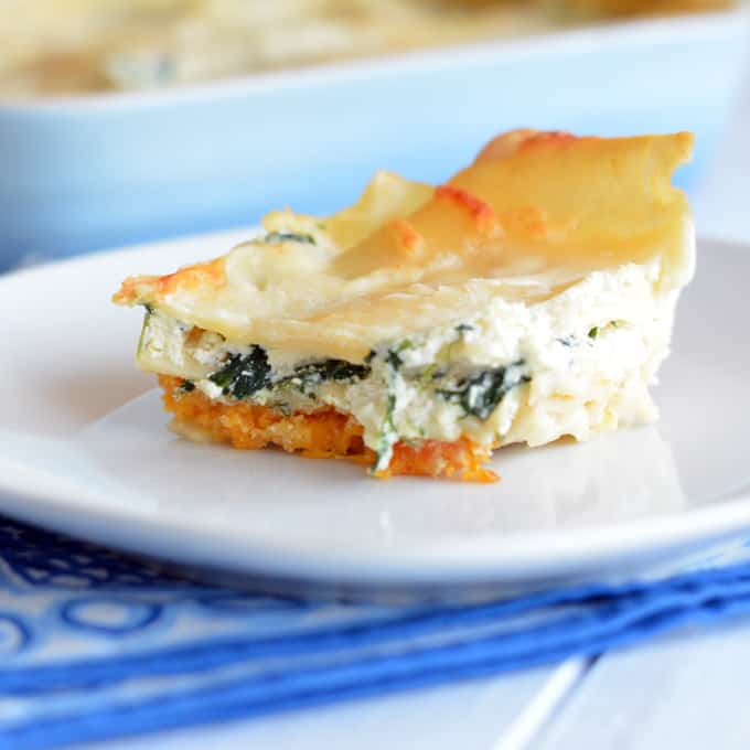Three Cheese Butternut Squash Lasagna