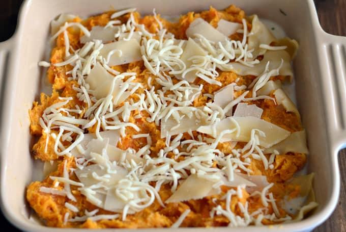 Three Cheese Butternut Squash Lasagna