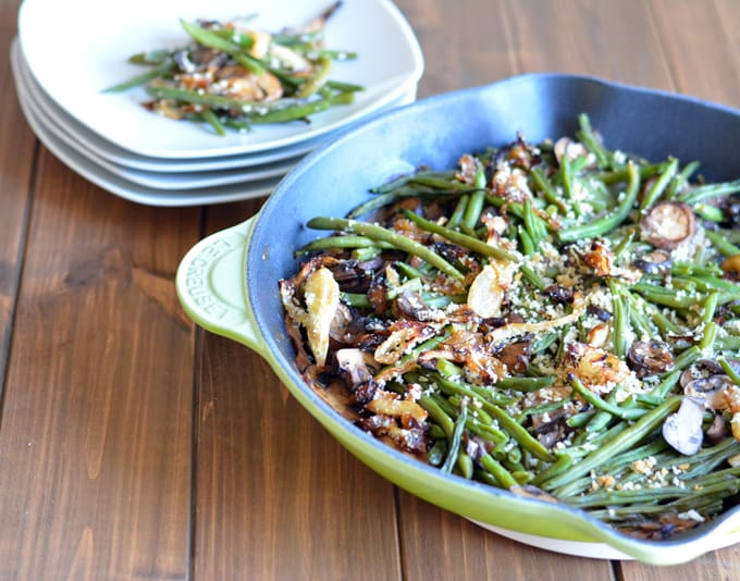 From scratch Green bean Casserole, a perfect Thanksgiving/Holiday side dish recipe.