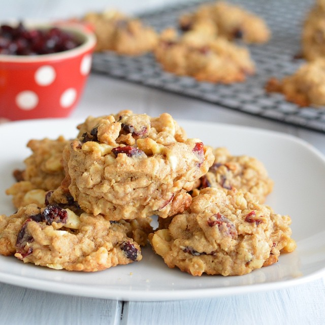Cranberry Oatmeal Chip Cookies #fbcookieswap