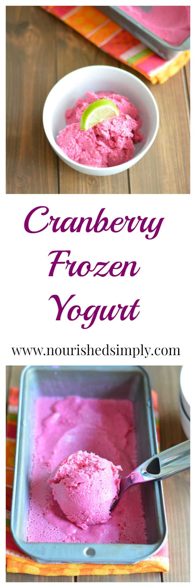Cranberry Lime Frozen Greek Yogurt