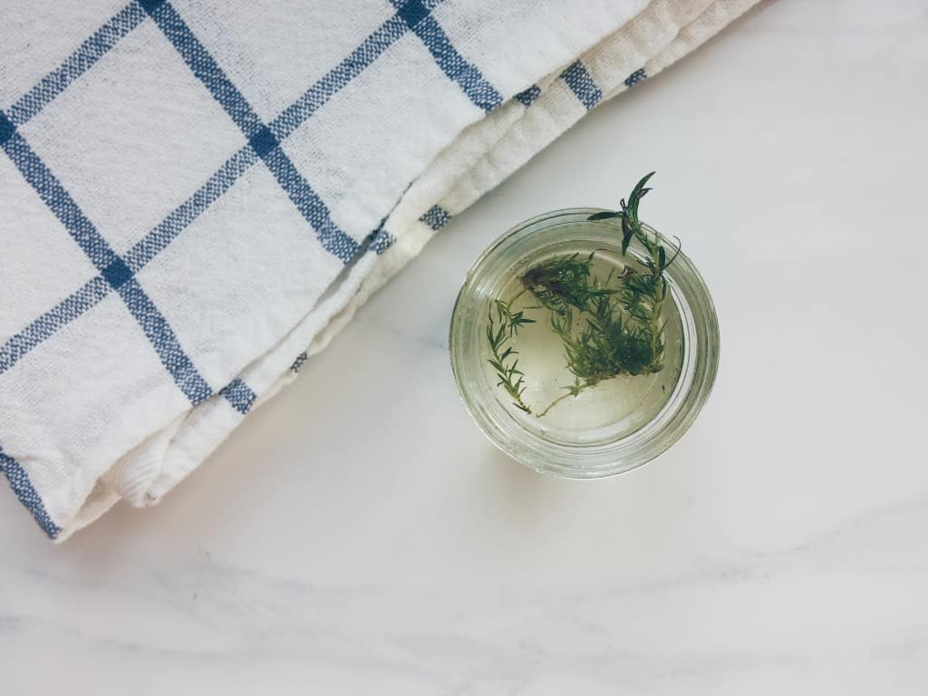 thyme infused simple syrup