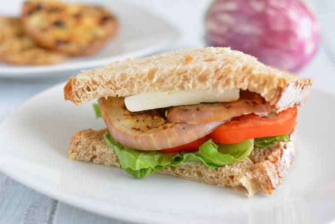 Grilled Eggplant Sandwich - a meatless lunch quick and easy to prepare.