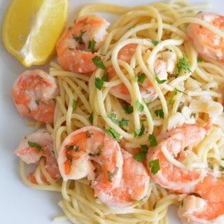 Shrimp Scampi - lower calorie version same great flavor