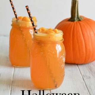 Hocus Pocus Halloween Punch is made with three simple ingredients.