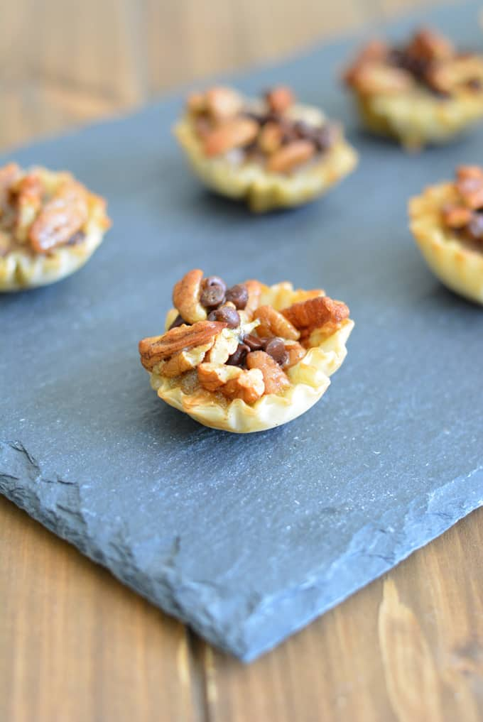 Chocolate Pecan Pie Bites are a perfect way to get the taste of pecan pie without all the calories.