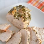 Herbed Roasted Turkey Breast is a quick and easy alternative to cooking a whole turkey this Thanksgiving.