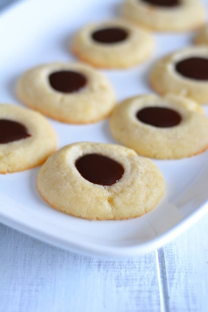Thumbprint cookies are so versatile. You can fill them with just about any flavor.
