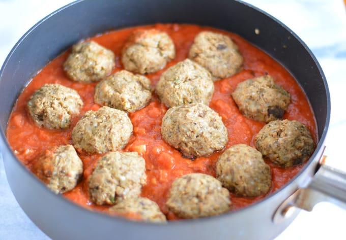 Eggplant Artichoke Meatless Balls