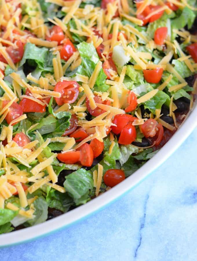 Veggie Loaded Taco Dip