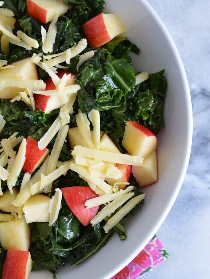 Kale Apple Salad with Dijon Vinaigrette