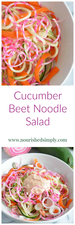 Cucumber Beet Noodle Salad
