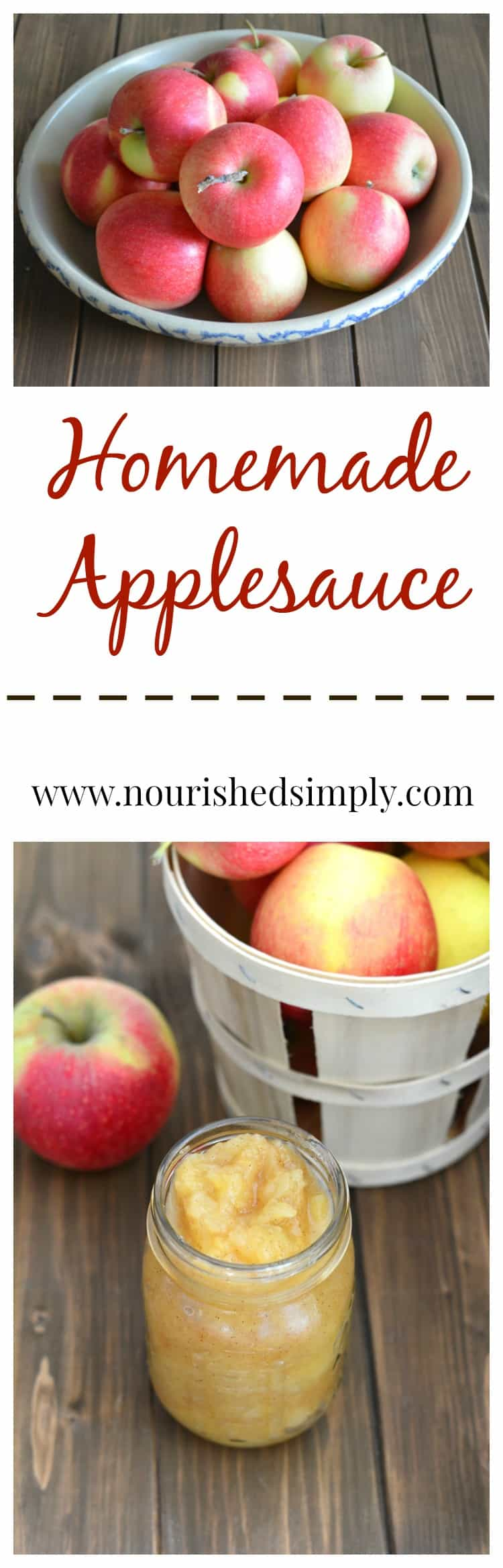 Applesauce homemade with just apples and apple cider.