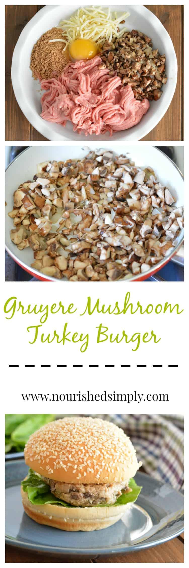 Gruyere Mushroom Turkey Burger