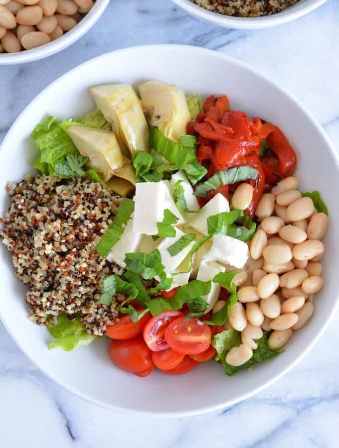 Bruschetta Quinoa Protein Bowl