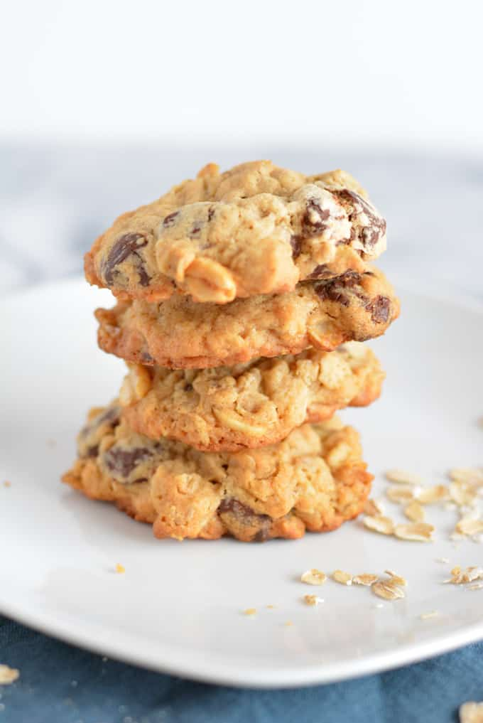 Peanut Butter Chocolate Chip Cookies are like having three cookies in one.
