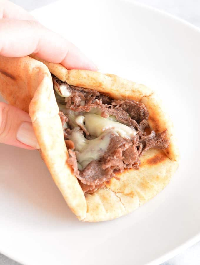 Philly Cheese Steak Pita Sandwich