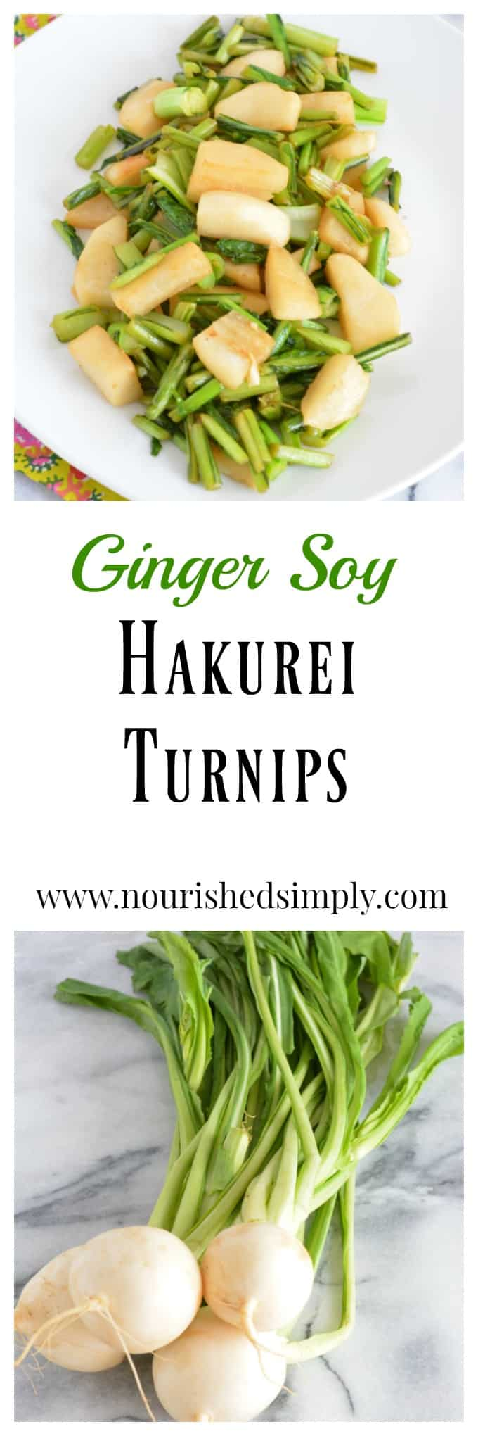 Reduce for waste with this recipe for Ginger Soy Hakurei Turnips