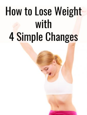 Happy woman who lost weight making simple changes.