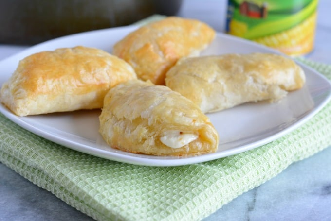 Mexican Street Corn Empanadas ready in 30 minutes for a quick snack, appetizer or lunch.