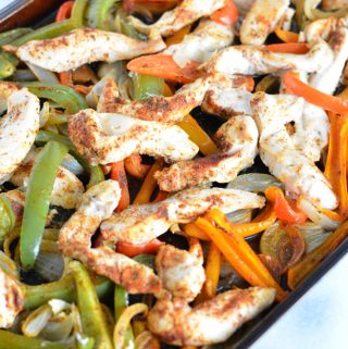 Sheet Pan Chicken Fajitas can be ready in 30 minutes. Perfect for a quick dinner meal.