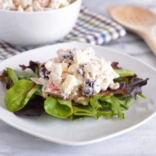 Turkey, Walnut, Apple & Cranberry Salad