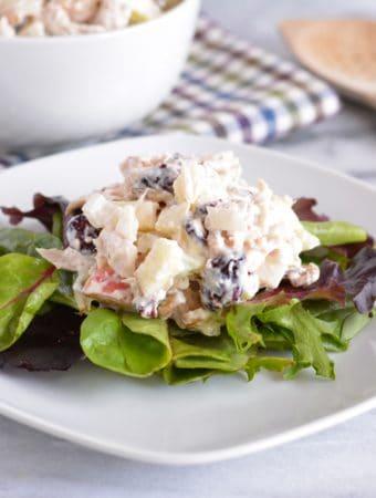 Turkey, Walnut, Apple & Cranberry Salad