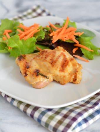 Grilled Maple Dijon Chicken Thighs